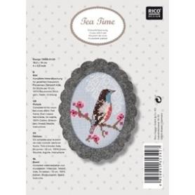 """Kit déco broderie point de croix """"oiseau"""" - Rico Design"""
