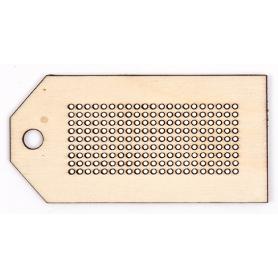 Support ovale à broder en bois Rico Design