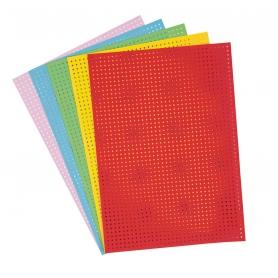 10 cartons à broder multicolores A5 - Rico Design