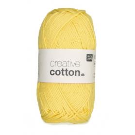 """Coton DK jaune clair """"Créative cotton"""" de Rico Design"""