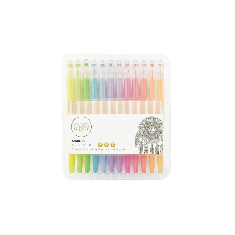 Set de 24 Stylo gels pastel et pailleté Kaiser Colour