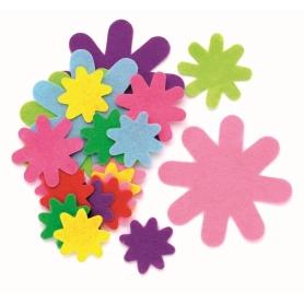 50 fleurs en feutrines coloris assortis - Glorex