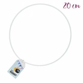 Anneau de métal blanc 20 cm - Rico Design