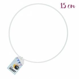 Anneau de métal blanc 15 cm - Rico Design