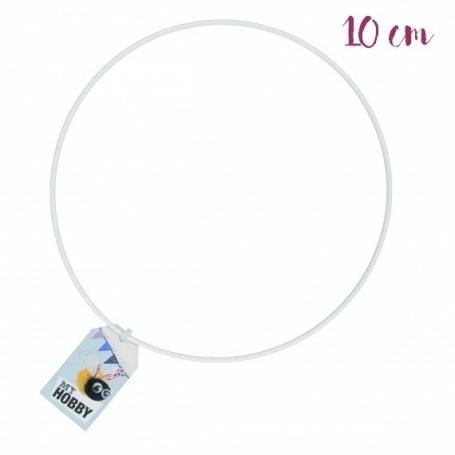 Anneau de métal blanc 10 cm - Rico Design