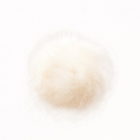 """Pompon fausse fourrure 10 cm """"nature"""" Rico design"""
