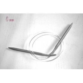 Aiguilles circulaires aluminium n° 6 - Rico Design