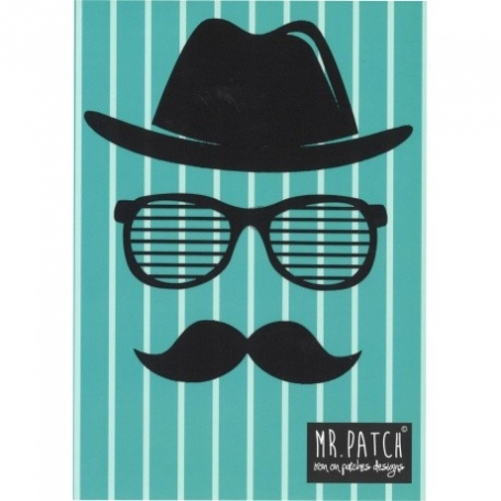 """Grand patch thermocollant """"moustache"""" - Mr Patch"""