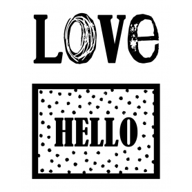 Mini Tampons Clear Love / Hello - Artemio