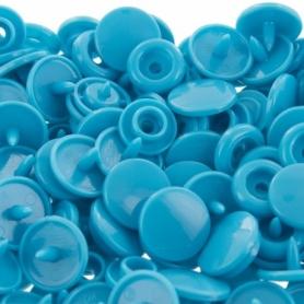20 pressions rondes snap pour KAM bleu turquoise