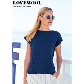 Pelote fil de coton essentials cotton dk bleu nuit Rico Design
