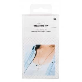 Kit collier tissage perles brick stitch flamant rose Rico Design
