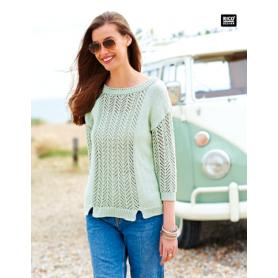 """Coton DK à crocheter menthe """"Créative cotton"""" de Rico Design"""