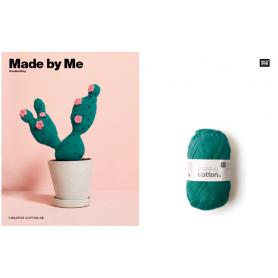 """Coton DK à crocheter vert algue """"Créative cotton"""" de Rico Design"""