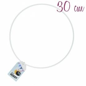 Anneau cercle abajour en métal blanc 30 cm - Rico Design