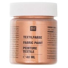 Peinture tissu bronze