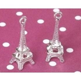 Breloque Tour Eiffel argentée