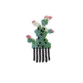 Kit broche tissage perles brick stitch cactus Rico Design