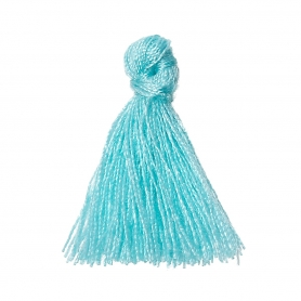 Petits pompons à bijoux bleu ciel x 4