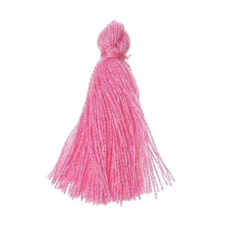 Petits pompons à bijoux rose x 4