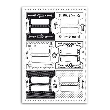 Stickers onglets pour bullet journal et agenda
