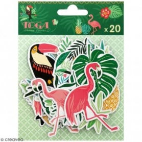 "Assortiment chipboards découpés ""jungle"" Toga"