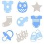 45 formes en feutrine bébé garçon - Artemio