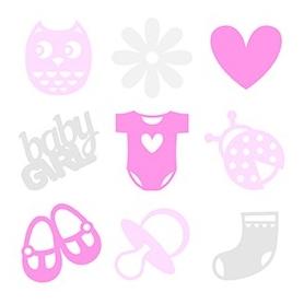 45 formes en feutrine bébé fille - Artemio