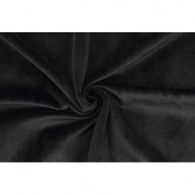 Coupon de tissu pour minky peluche noir - Kullaloo