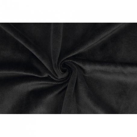 Coupon de tissu minky peluche noir - Kullaloo