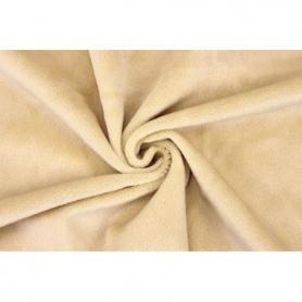 Coupon de tissu pour minky peluche beige - Kullaloo