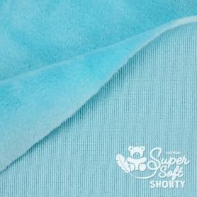Coupon de tissu pour minky peluche turquoise - Kullaloo