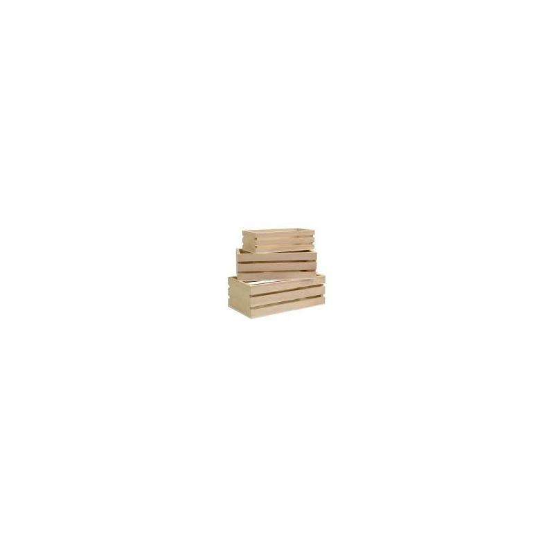 Set 3 casiers gigogne en bois artemio