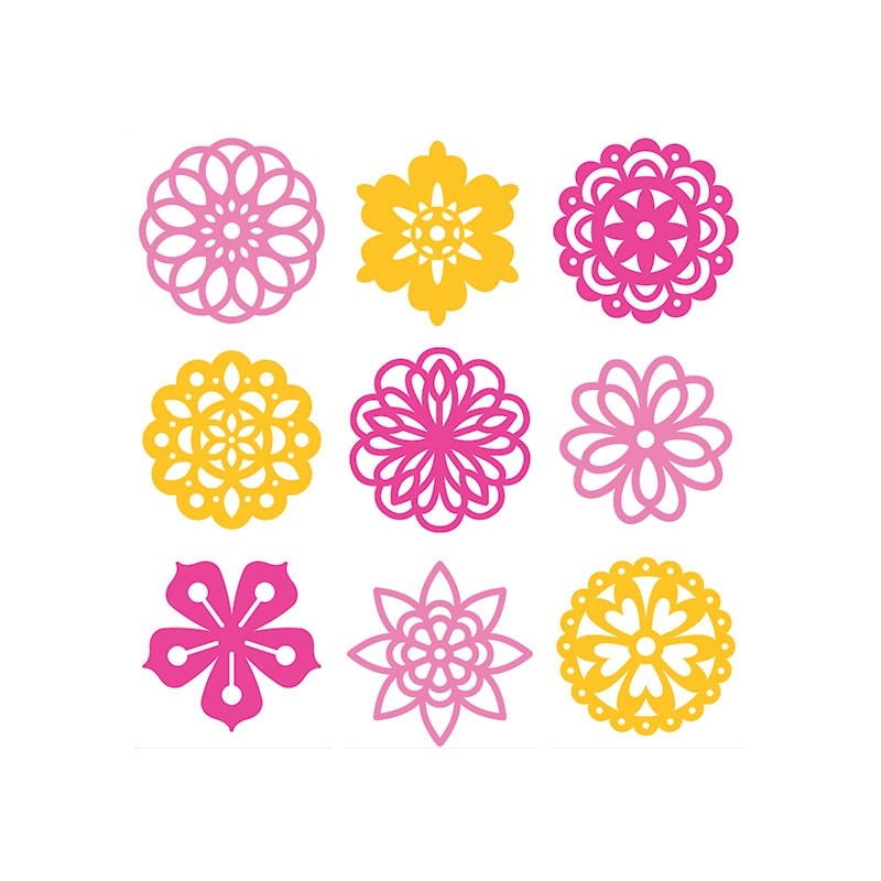 45 fleurs en feutrine découpée - Artemio