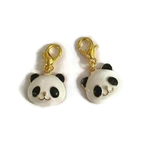 2 Marqueurs panda pour crochet et tricot