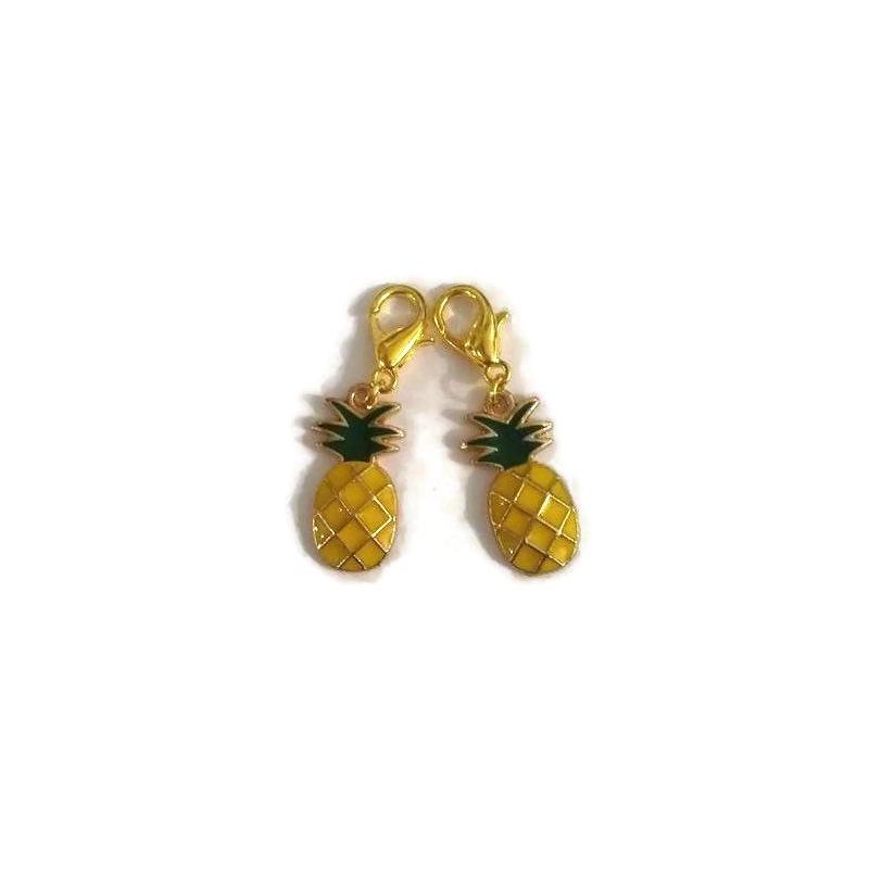 2 Marqueurs ananas pour crochet et tricot