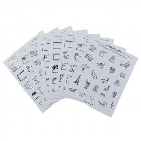 """Stickers """"doodle"""" pour agenda et bullet journal"""