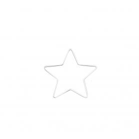 Etoile en métal blanc 15 cm - Glorex
