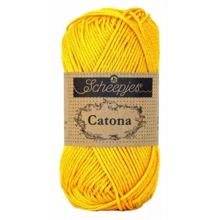 Scheepjes Catona 50 g jaune d'or 208