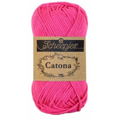 Scheepjes Catona 50 g rose vif 114