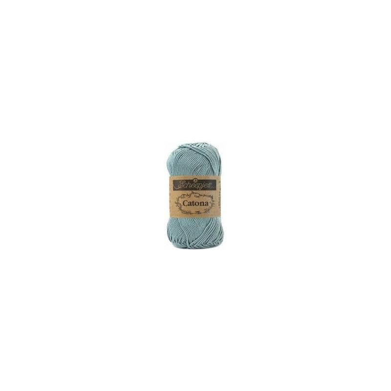 Scheepjes Catona 25 g bleu argent 528