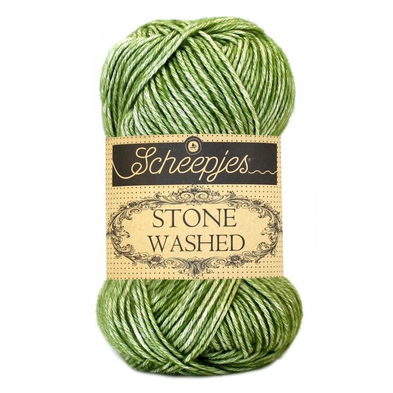 Pelote Stone washed de Scheepjes - Jade 806