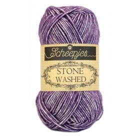 Pelote Stone washed de Scheepjes - Deep Amethyst 811