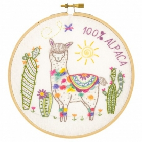 """Kit de broderie """"Nikolas le lama"""" - Un chat dans l'aiguille"""