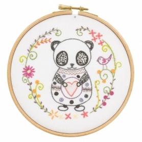 """Kit de broderie """"Sacha le panda"""" - Un chat dans l'aiguille"""