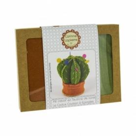 """Mini kit feutrine coussin à épingles """"cactus"""" - Corinne Lapierre"""