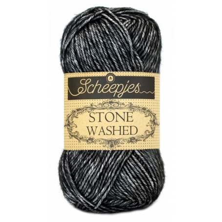 Pelote Stone washed de Scheepjes - Black onyx 803