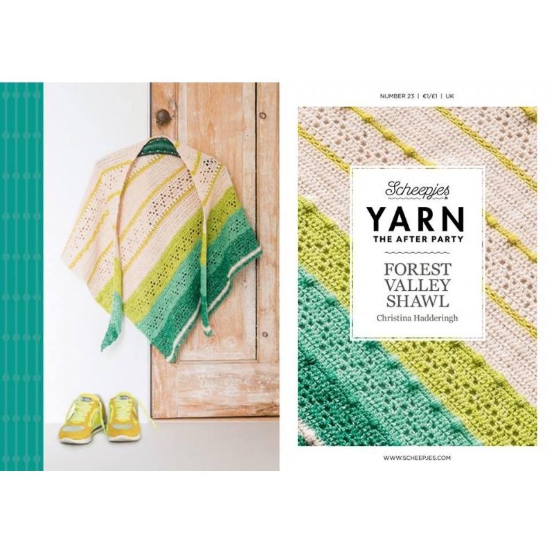 """Patron châle au crochet """"forest valley shawl"""""""