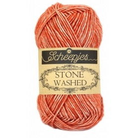 Pelote Stone washed de Scheepjes - corail 816