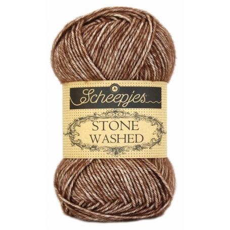Pelote Stone washed de Scheepjes - Brawn agate 822